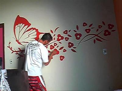Pinturas e decoração (borboleta sala)