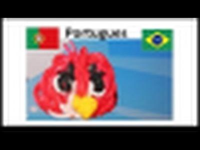 Pulseiras de Elastico Angry Birds : Como fazer Pulseiras com Elasticos. Loom Bands. Charms
