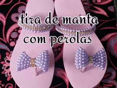 TRAMA DE PÉROLAS   COM  MANTA DE STRAS