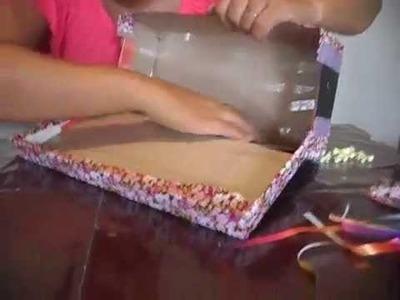 Artesanato e reciclagem - Transforme uma caixa de sapato em arte!