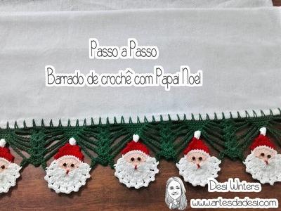 Barrado. Bico Papai Noel de Crochê
