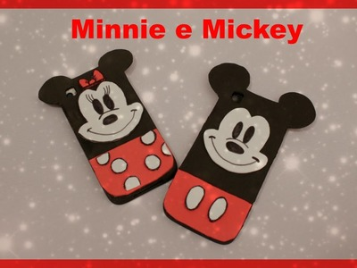 Capinha para Celular  -  Minnie e Mickey de EVA - Com abertura para lente e carregador. :)