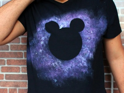 Como fazer Camiseta Galaxy do Mickey DIY - Estilo Cortês