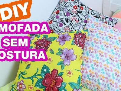 Como Fazer Capa de Almofada Sem Costura | DIY Faça Você Mesma - Por Jéssica Freitas