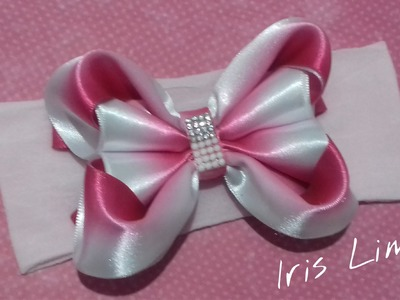Como fazer laço mil faces Diy ,Tutorial ,Pap By Iris Lima How To Make a Hair Bow