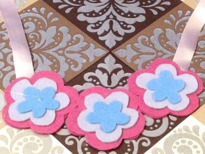 Como Fazer Maxi Colar Infantil de Flores em Feltro - DIY Passo a Passo