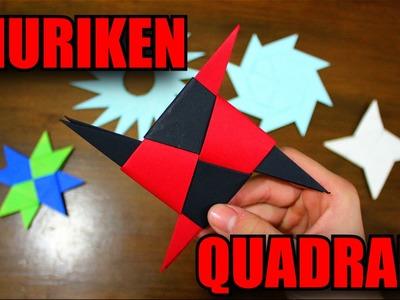 Como Fazer uma Shuriken Quadrada! - Origami