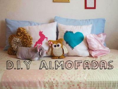 D.I.Y Almofadas : Unicórnio e Coração