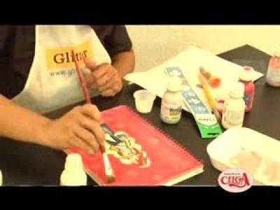 Dicas de artesanato - Formas de pintar uma capa de caderno