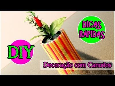 Dicas Rápidas | DIY: Vaso de Canudos | Decoração com Canudos #tododia26