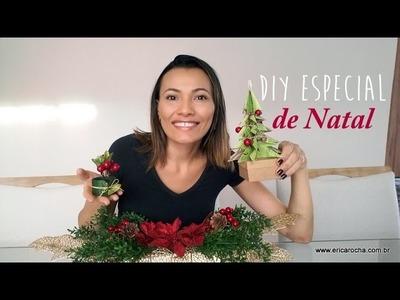 DIY 3 em 1 especial de Natal - Decoração fácil, rápida e barata para uma mesa linda!