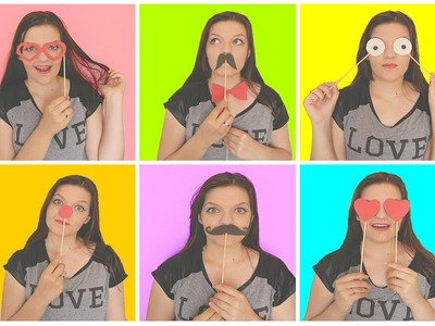 DIY| Acessorios divertidos para fotos (Photo Booth) ♥