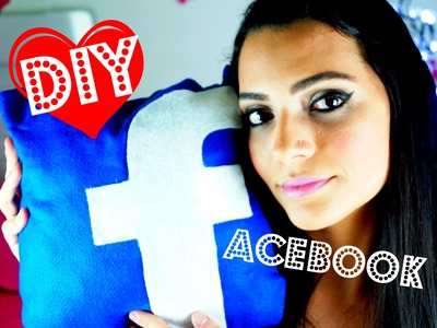 DIY Almofada FACEBOOK - Fácil e Sem Costura (Facebook Pillow)