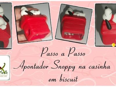 DIY Apontador Snoopy em Biscuit - Rejane Kesia