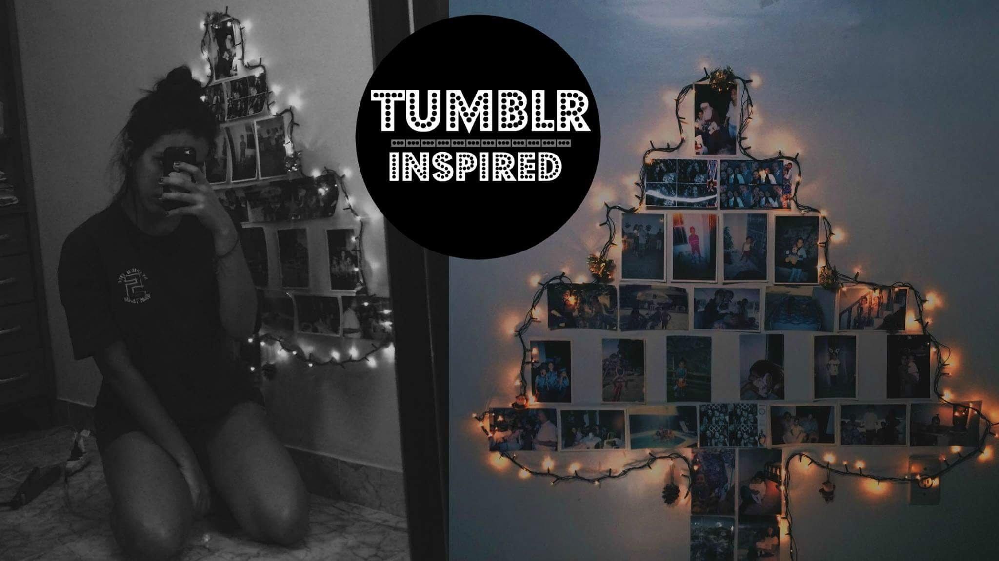 DIY: árvore de natal com fotos   TUMBLR INSPIRED