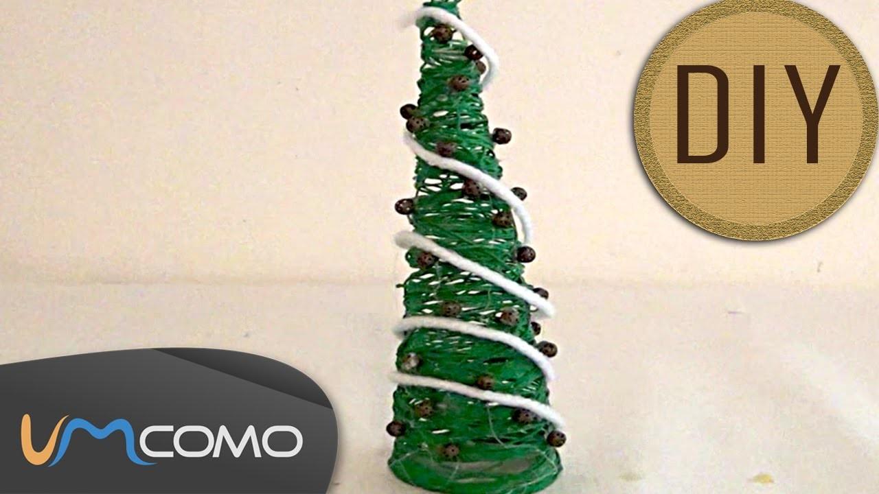DIY - Árvore de Natal feito em Linha