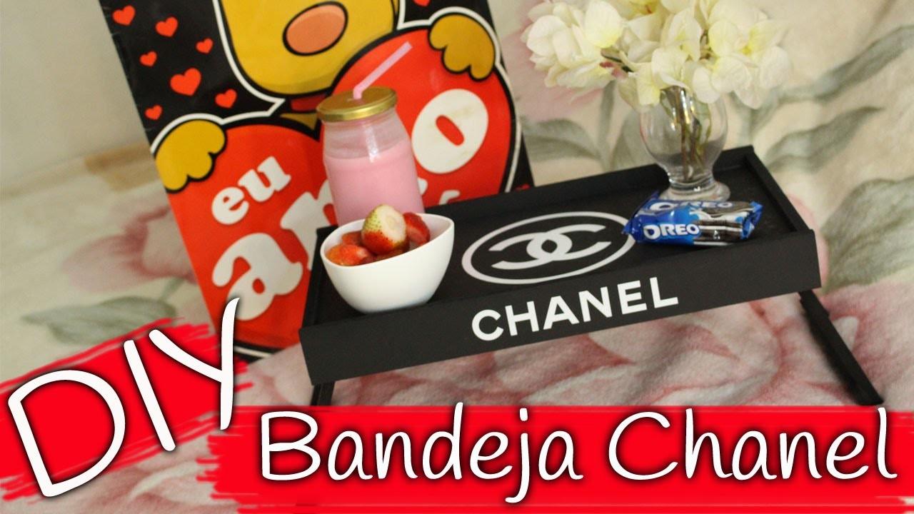 DIY - Bandeja Chanel - Dia dos namorados. Chanel Tray - Valentine Day