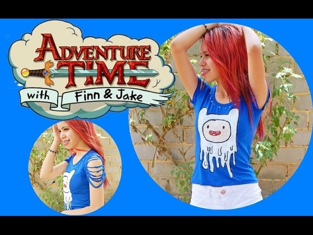 "DIY : Blusa Finn  ""Adventure  Time "" (Hora de Aventura)"