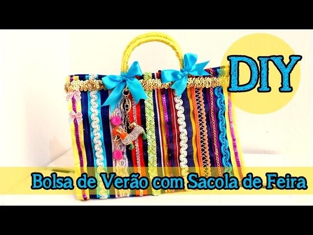 DIY: Bolsa de Verão com Sacola de Feira