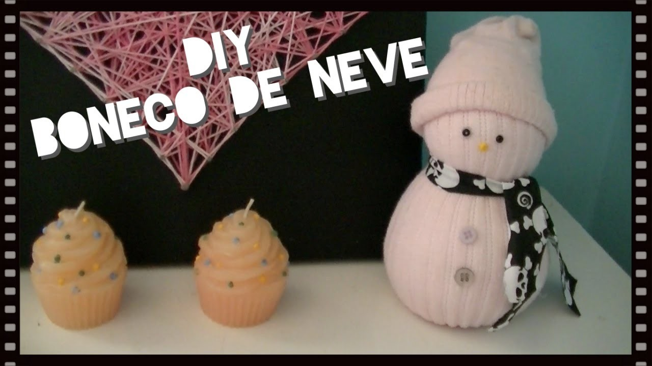 DIY - Boneco de Neve