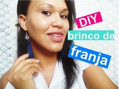 DIY - Brinco de franja