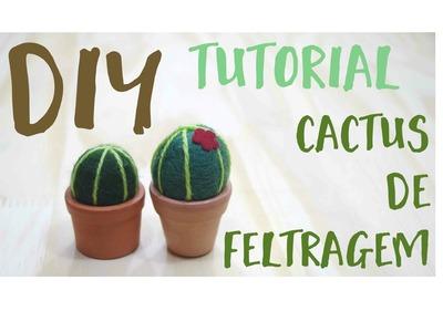 DIY   Cactus de feltragem