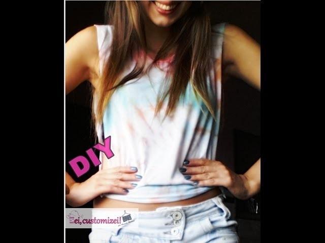 DIY - Camisa Tie Dye Colorida - ei, customizei!