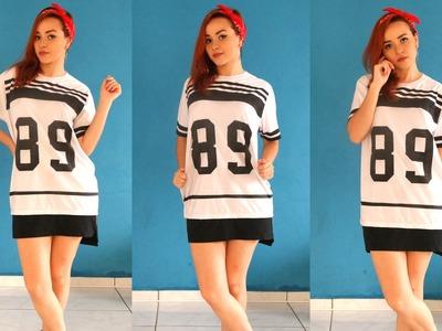 DIY Camiseta Colegial | T-shirt Oversized.Longline
