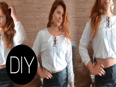 DIY - Camiseta manga comprida sem costura