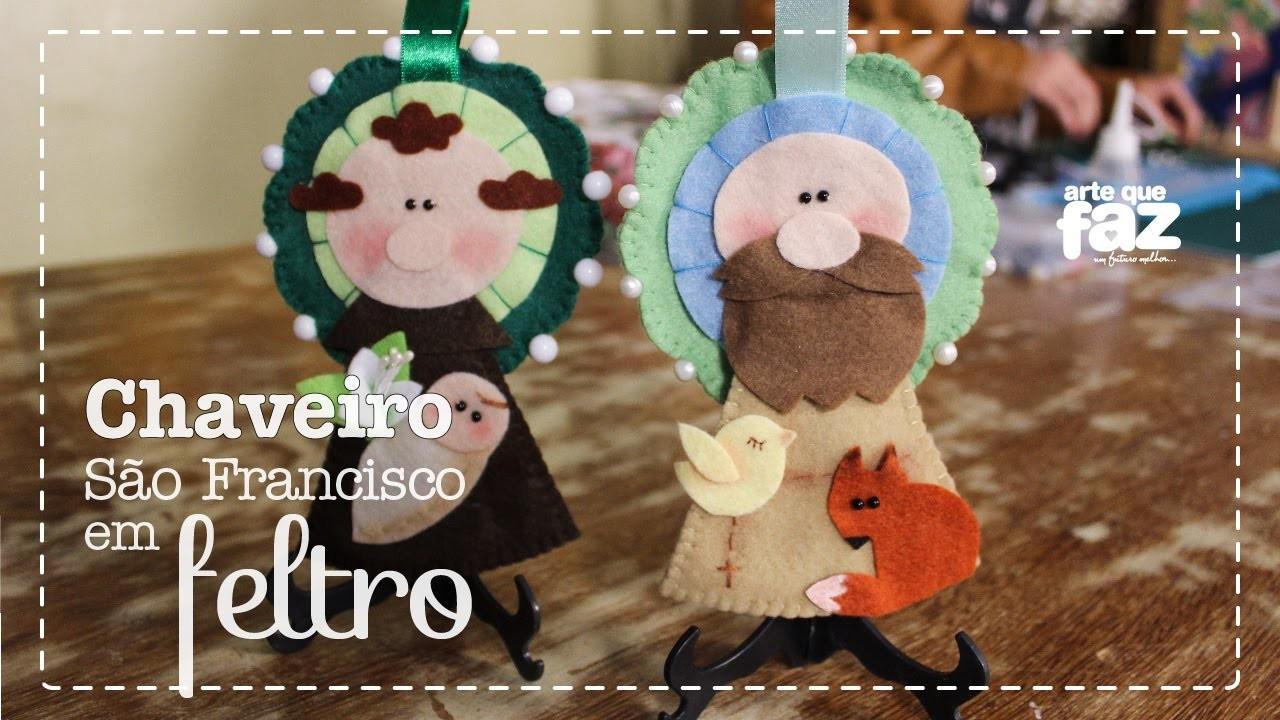 DIY - Chaveiro São Francisco em feltro (Chrys Altran)
