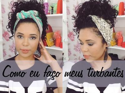DIY Como eu faço meus turbantes com roupa velha Fernanda Chaves
