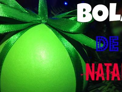 DIY.Como Fazer Bola de Natal em E.V.A (ENFEITE DE NATAL).