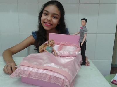 DIY Como fazer cama de casal para Barbie