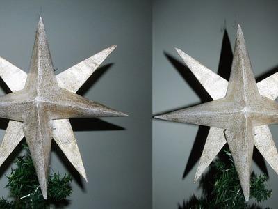 DIY- Como fazer estrela para usar na arvore de natal!!!