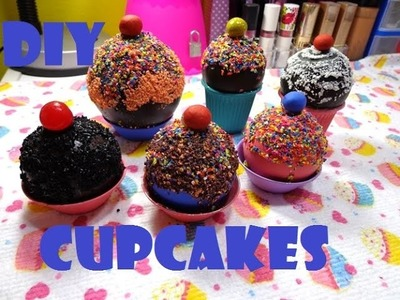 DIY Como fazer cupcake\brigadeiro decorativo