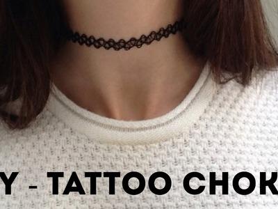 DIY - Como fazer tattoo choker *repostando*  | Aisha Faria