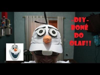 DIY- COMO FAZER UM BONÉ DO OLAF!❄️