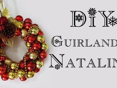 DIY: Como Fazer uma Guirlanda de Bolas para o Natal (Decoração Natalina - Christmas Decor Wreath)