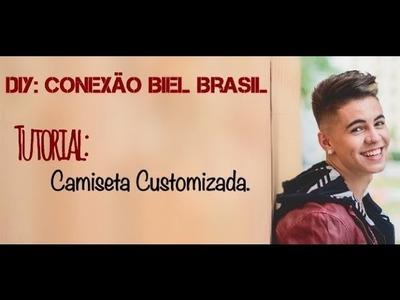 DIY Conexão Biel Brasil: Camiseta Customizada
