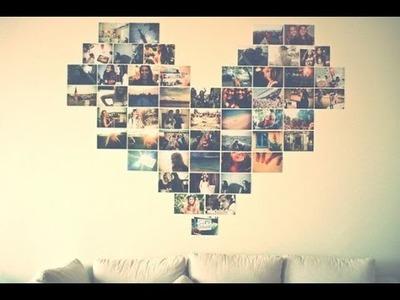 Diy - Coração de fotos na Parede