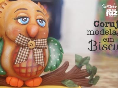 DIY - Coruja em biscuit (Carla Tenório)