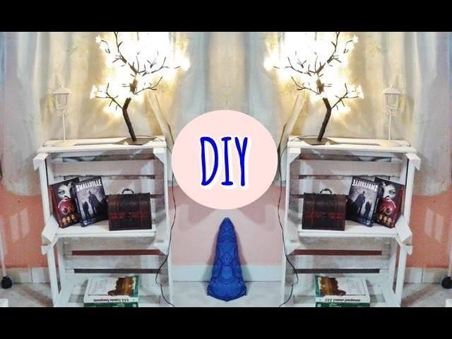 DIY: Criado mudo feito com caixotes de feira