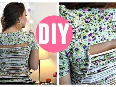 """DIY: Customização de blusa """"Tiras nas Costas"""" por Elisa Bighetti"""