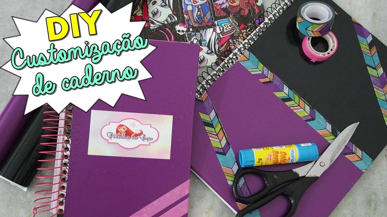 DIY - Customização de Caderno - Volta às aulas.