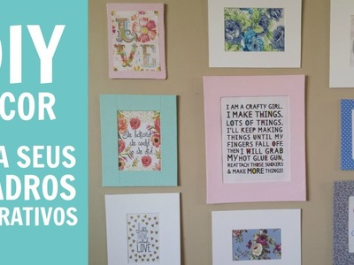 DIY DECOR ::Quadros decorativos:: parte 1