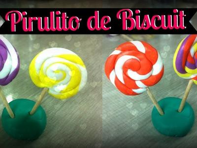 DIY: Doces de Biscuit - Pirulitos Colorido