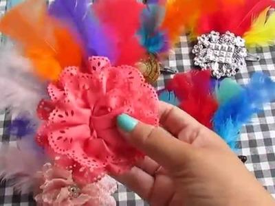 DIY: Enfeite de Cabelo -Carnaval-2015- faça você mesma.