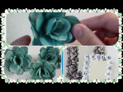 Diy: ✂ Faça Flores reciclando caixas de ovos - Reciclagem faça você mesma