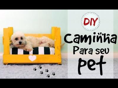DIY | Faça uma Caminha para seu PET - Usando CAIXOTE DE FEIRA Especial Pet #1
