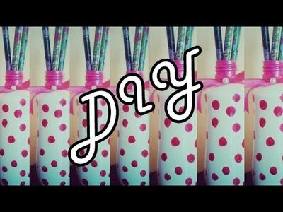 DIY.Faça você mesmo: porta canetas ou vasinho decorativo para flores